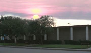Mitchell County Library Sunset